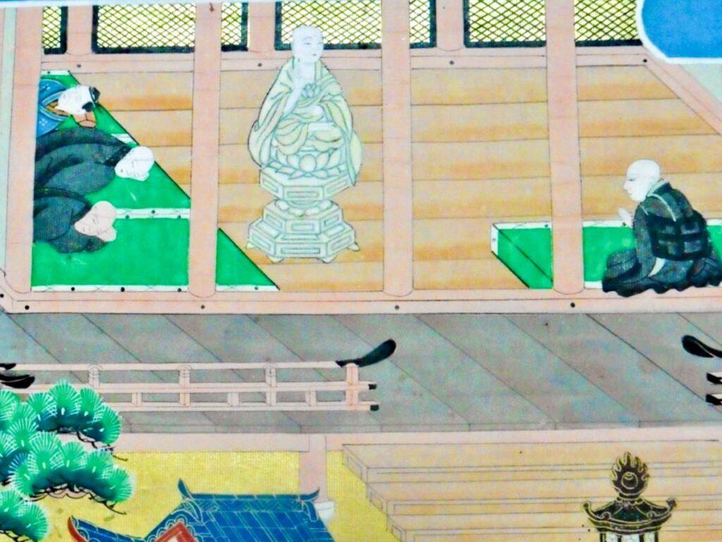 六角堂で夢告をうける親鸞聖人
